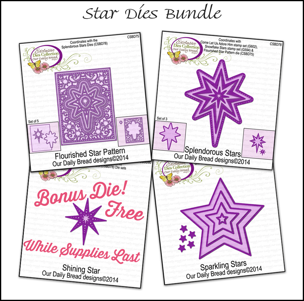 Stamps - ODBD Stars Dies Bundle with FREE Bonus Die