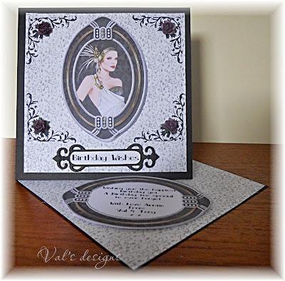 Valscraftroom Art Deco Plus Concertina Card