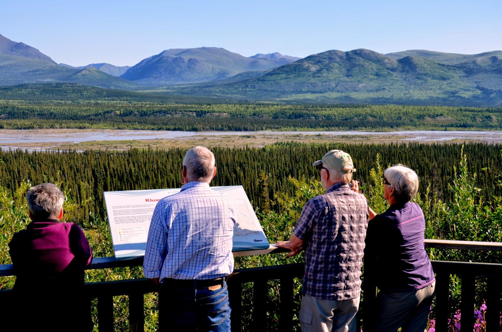 Overlooking Kluane River, Yukon.