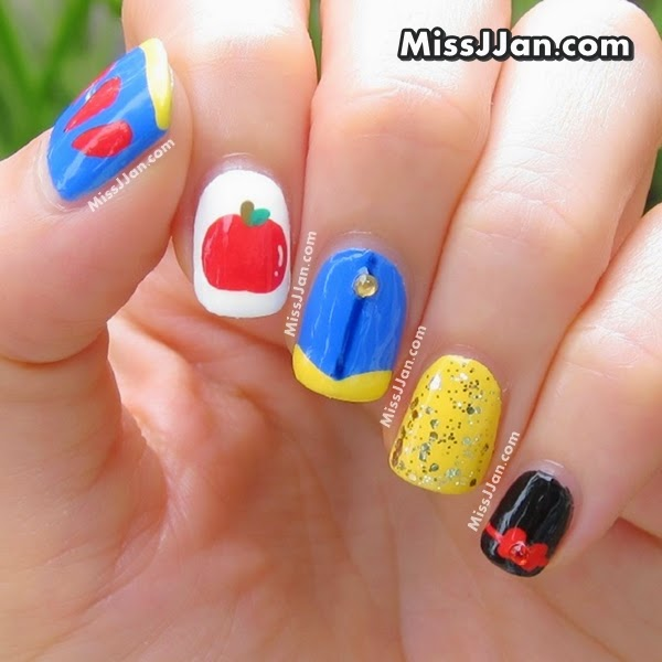 Snow White Nails: MissJJan's Beauty Blog ♥: {Tutorial} Walt Disney Snow