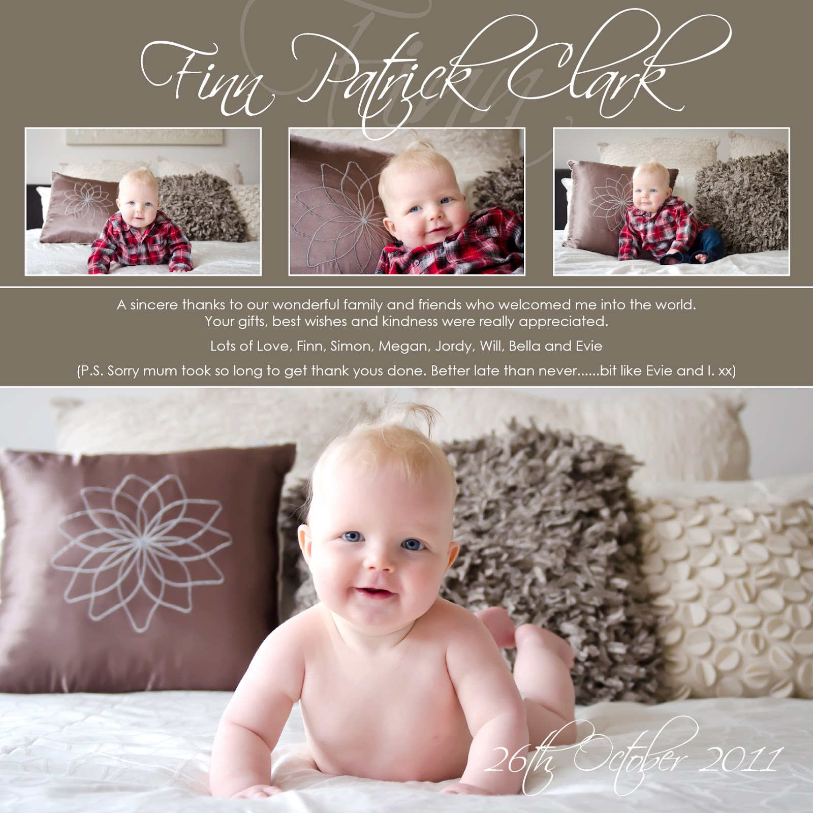 loulet design  baby thank you cards