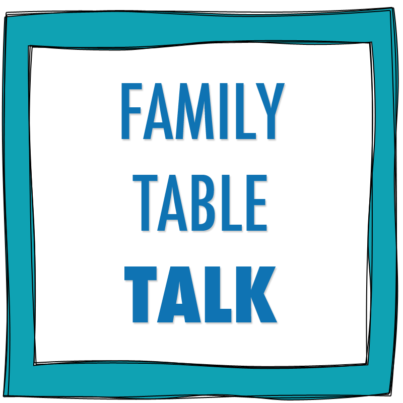 The importance of family meals and good conversation around the dinner table.