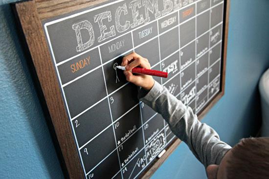Chalkboard Calendar Framed : Iheart organizing preston s bedroom update a diy