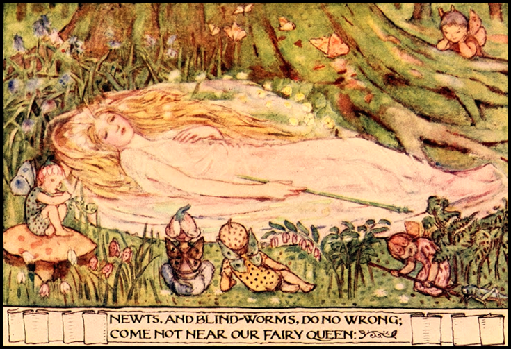 Minnie Dibdin Spooner 'A Midsummer Night's Dream' from the book 'The Golden Staircase'