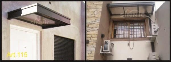 Aleros para puertas ventas balcones aleros de policarbonato for Techos de policarbonato para balcones