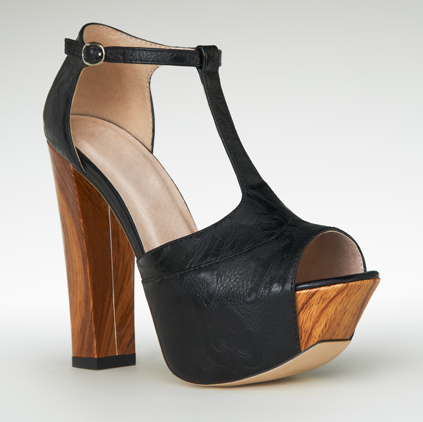 Shoes and Jules: The Look for Less: Chunky Wooden Heel T-Strap ...