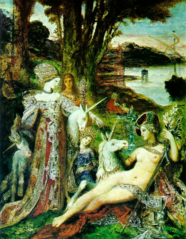 moreau unicorns paintings