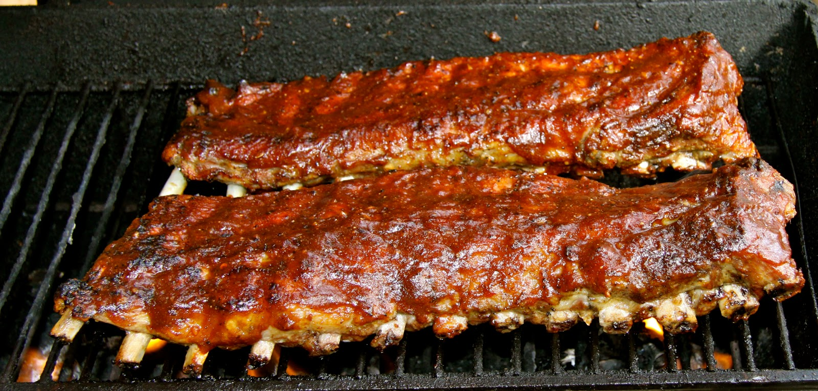 Braised Then Grilled Baby Back Ribs