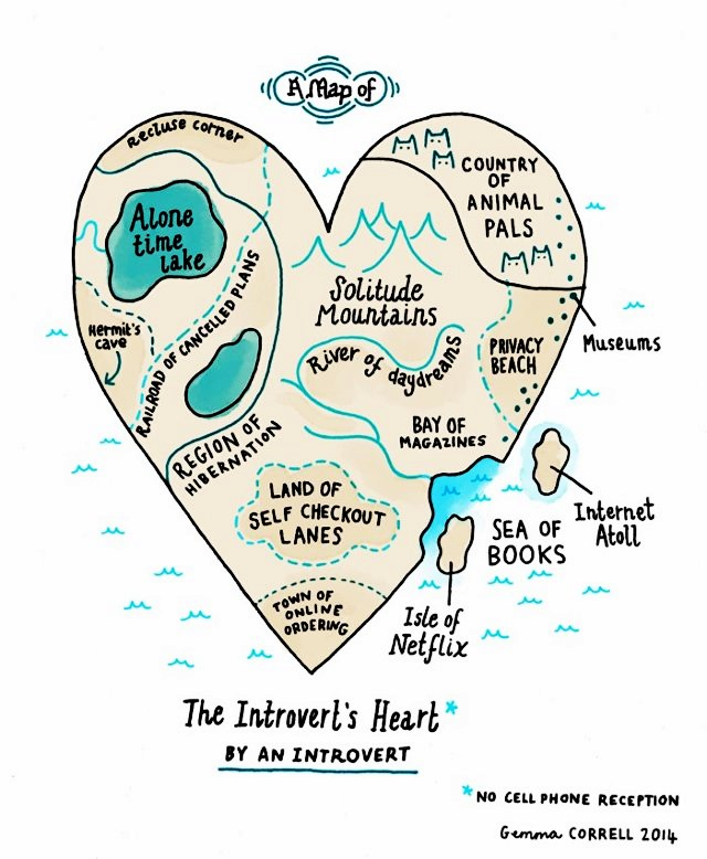 An Introvert's Heart Gemma Correll Infographic