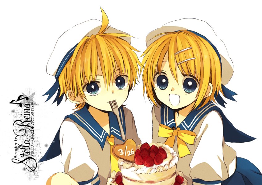 PNG-Rin y Len Kagamine