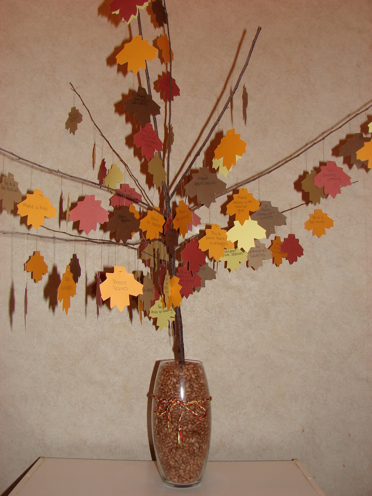 Autumn Bucket List Tree