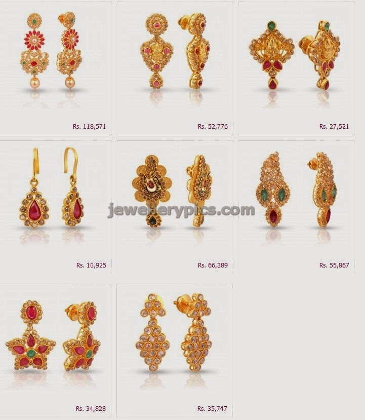 Malabargold Era uncut earring designs collection - Latest ...