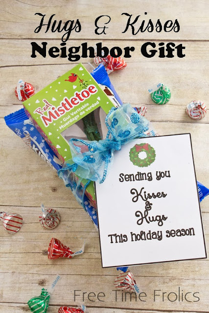 #mistletoe #hersheyshugs #neighborgift