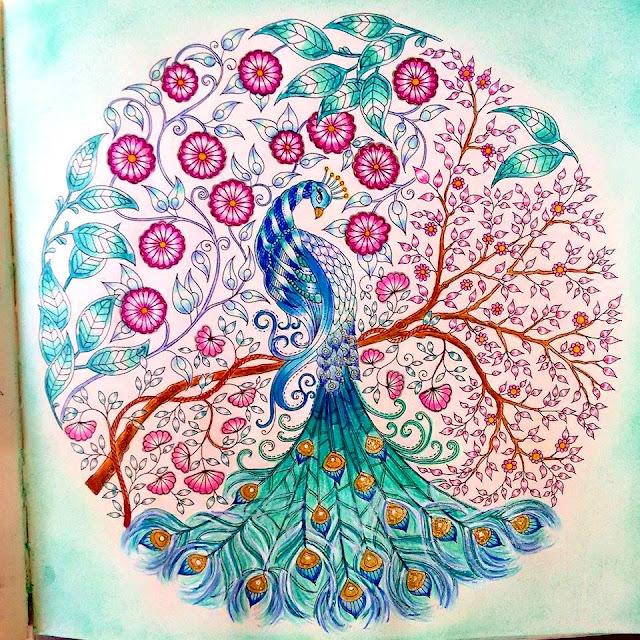 decoracao jardim secreto : decoracao jardim secreto:DIY Decoração: Livro de colorir Jardim Secreto: Minhas pinturas 2