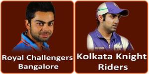 आइपीएल 6 का ग्यारहवां मैच रोयल चैलेन्जर्स बंगलौर और कोलकाता नाइट राइडर्स के बीच होना है।