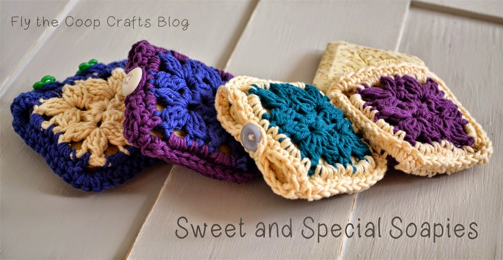 free crochet pattern granny square soap cozy