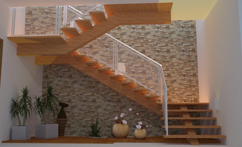 Imagens de #9D592E EngArch Engenharia: Escadas 1440x875 px 3684 Banheiros Residenciais Modernos