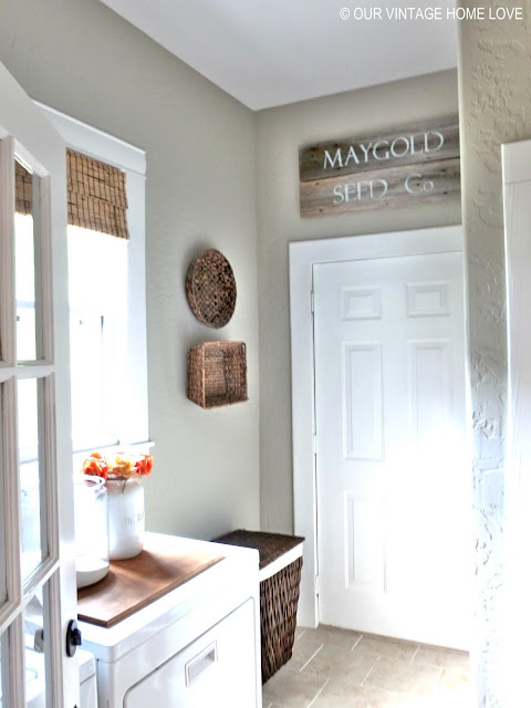 Vintage home love laundry room ideas and a vintage - Laundry room wall ideas ...