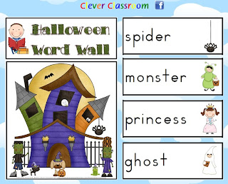 Halloween Word Wall Clever Classroom