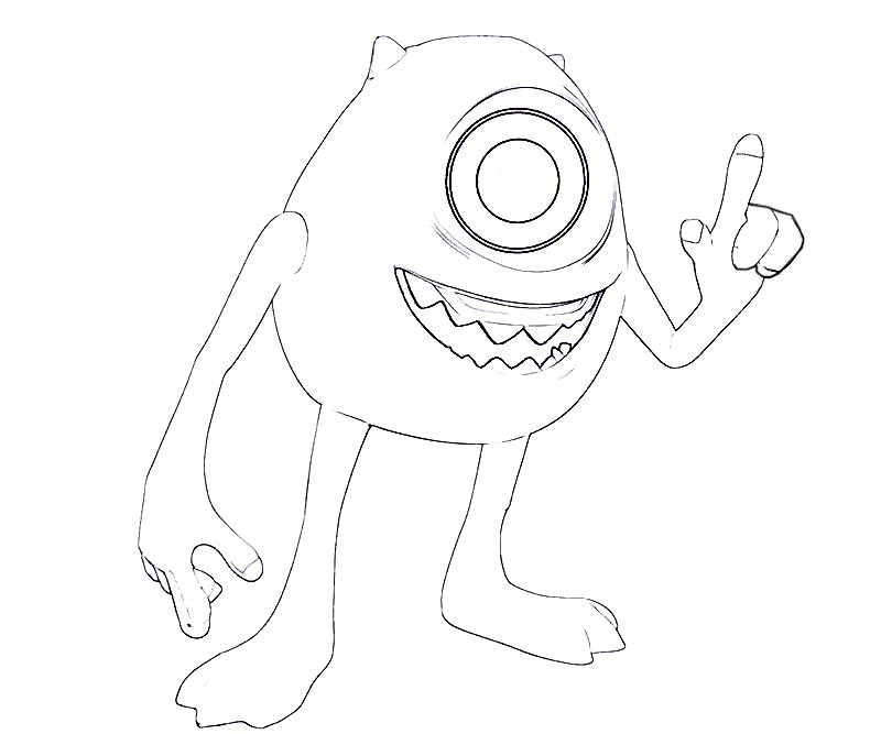 #4 Monsters University Coloring Page