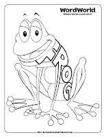 word world frog coloring pages