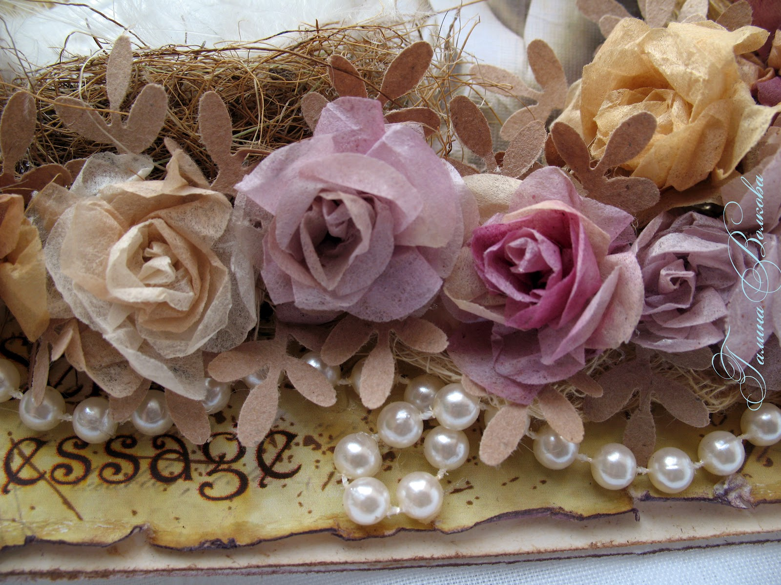 Розы из чайных пакетиков. Фото 94