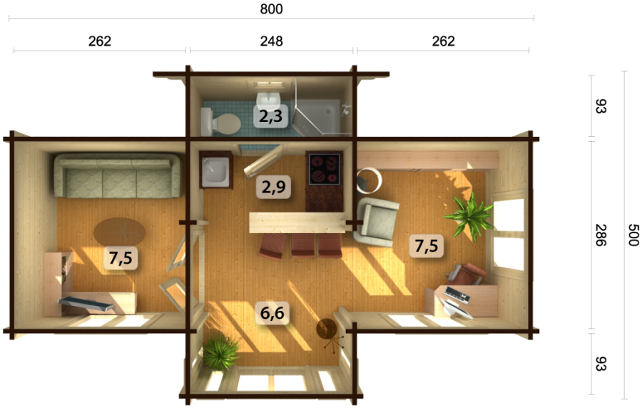 Casas de madera baratas bungalow de madera modelo penelope for Casetas madera para jardin baratas