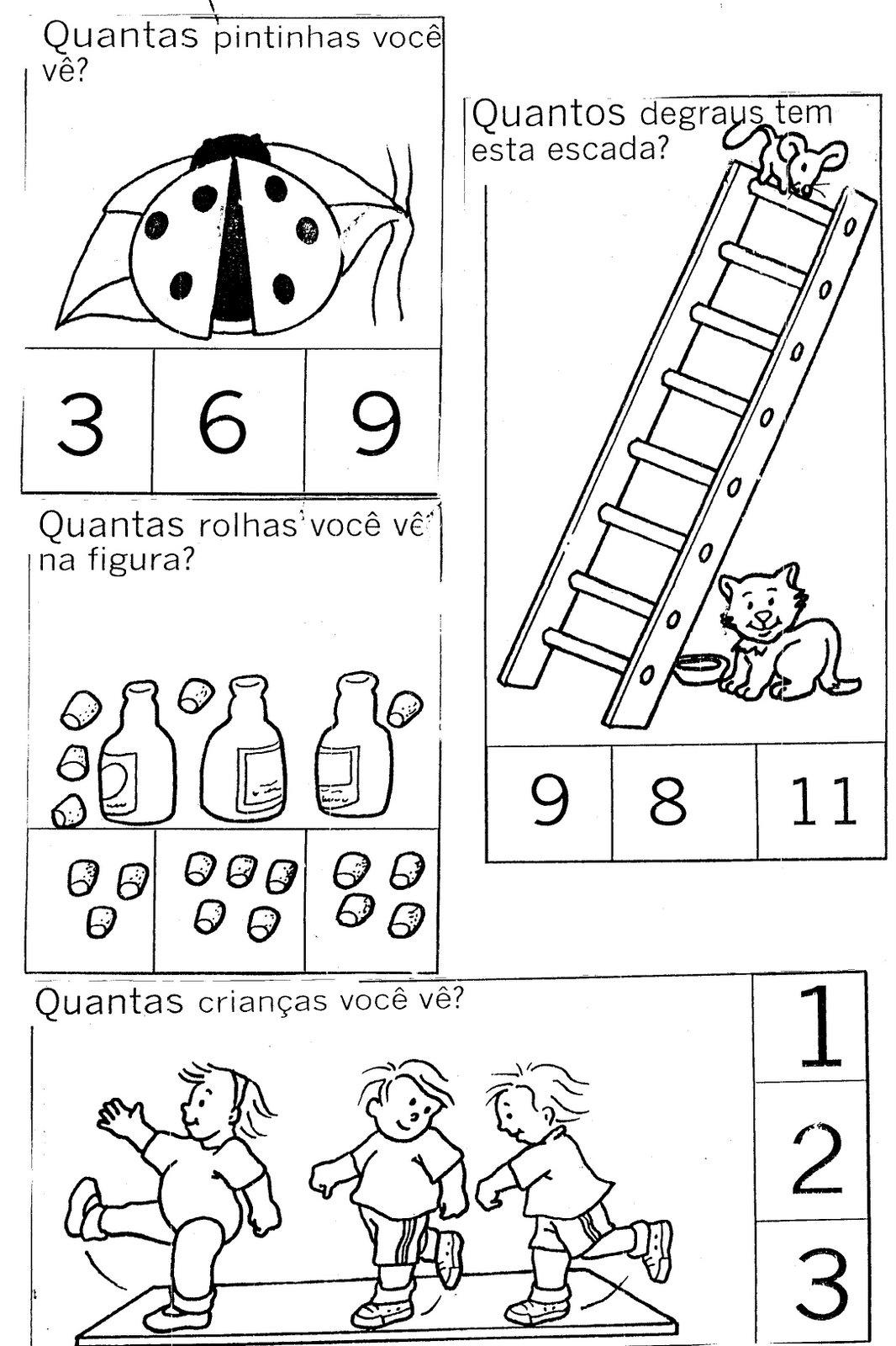Populares Aprendendo Quantidade - Atividades para Educação Infantil  WM69