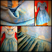 I came across this stunning vintage light blue dress yesterday.