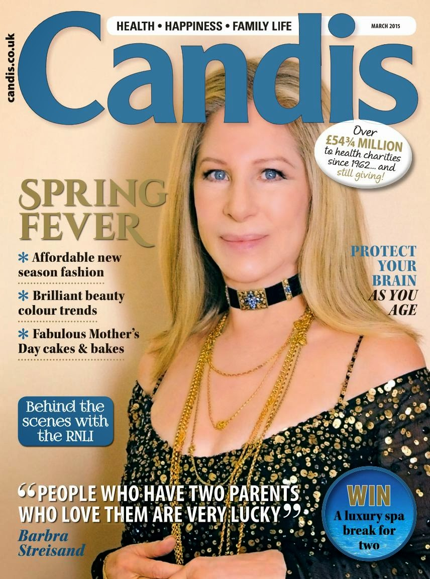 Singer, Actress: Barbra Streisand -  Candis UK March 2015