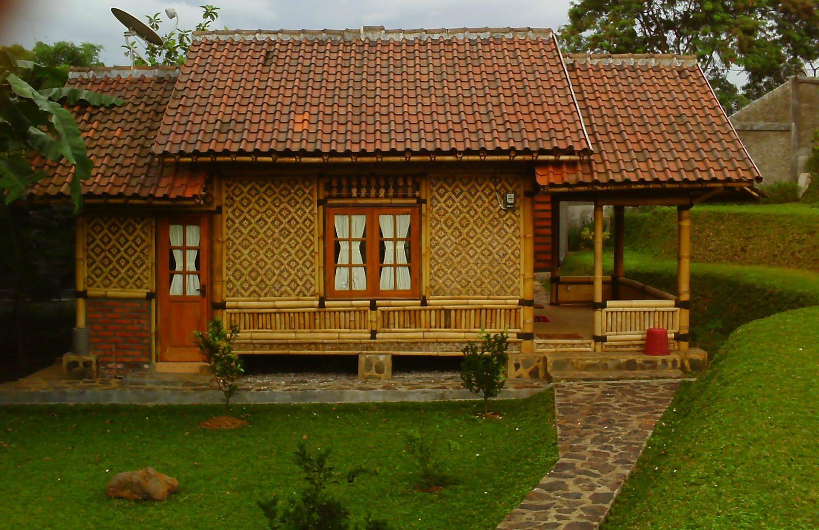 Desain Rumah Villa Bambu Eksotik
