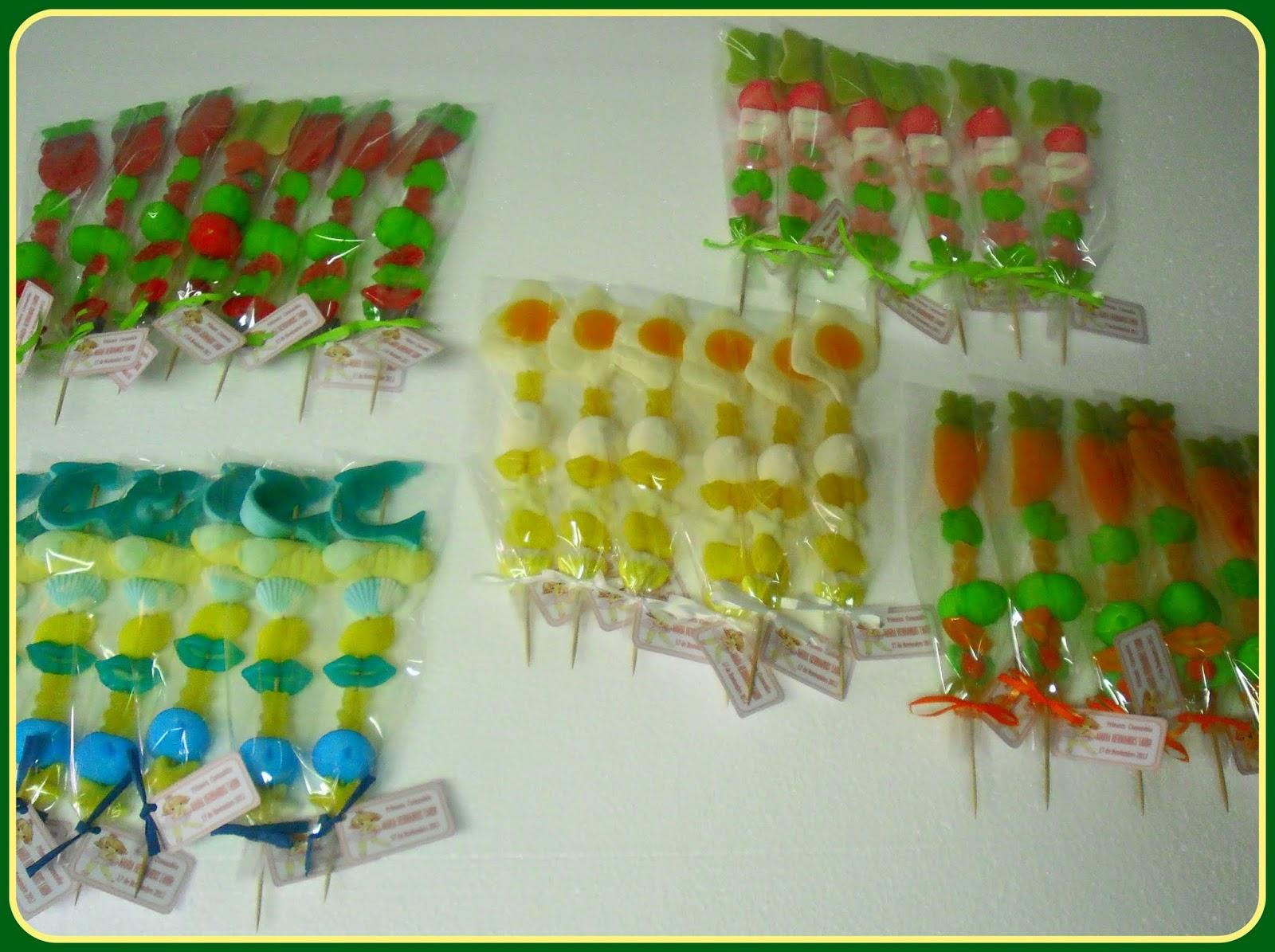 els bunyols de la iaia brochetas dulces de chuche gigante On brochetas de golosinas