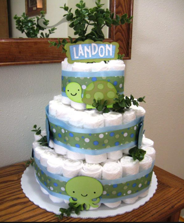 Cake Shaped Like a Diaper http://carsonscricutcreations.blogspot.com/2011/07/welcome-guest-crafter.html