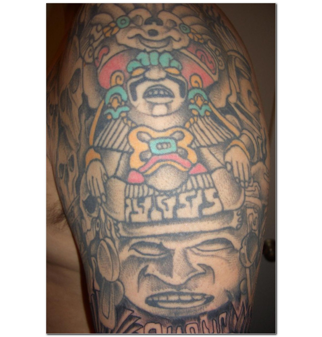Tattoos for men 2011 aztec tattoos mexican for Aztec lion tattoo meaning