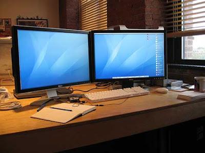 Configuraciones de dos pantallas para trabajar