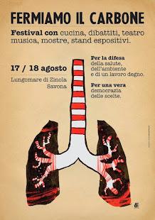 FERMIAMO IL CARBONE  : il 17 e 18 Agosto sul lungomare di Zinola