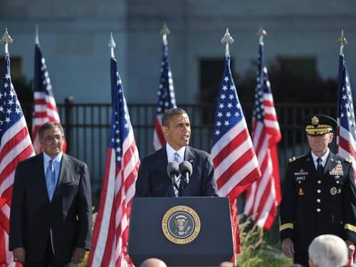 Obama, em discurso no Pentágono (Foto: MANDEL NGAN / AFP)