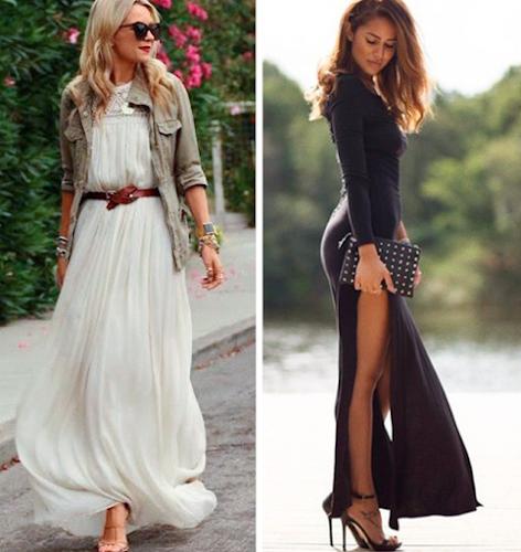 9 ideias incríveis sobre como usar um vestido longo