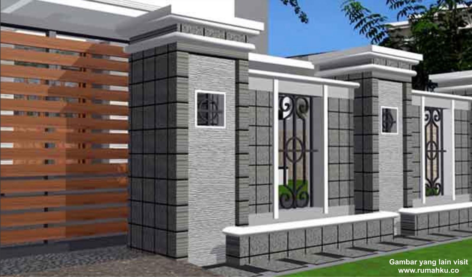 foto pagar rumah mewah