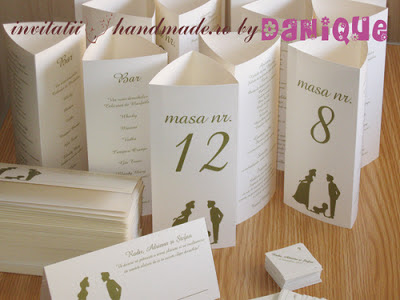 set meniu-placecard - 2in1 nunta si botez