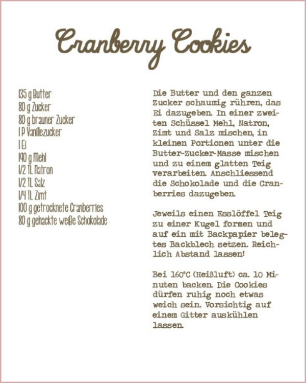 Cranberry cookies rezept recipe applewood house