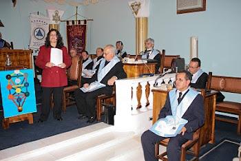 ALINE SANTOS MINISTROU PALESTRA MAGNA NA AUGUSTA E RESPEITAVEL LOJA JÓIA DA ESTÂNCIA DE POÁ