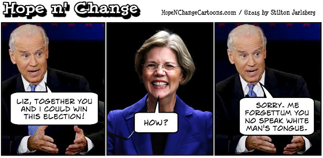 obama, obama jokes, political, humor, cartoon, conservative, hope n' change, hope and change, stilton jarlsberg, biden, warren, navajo, indian, 2016