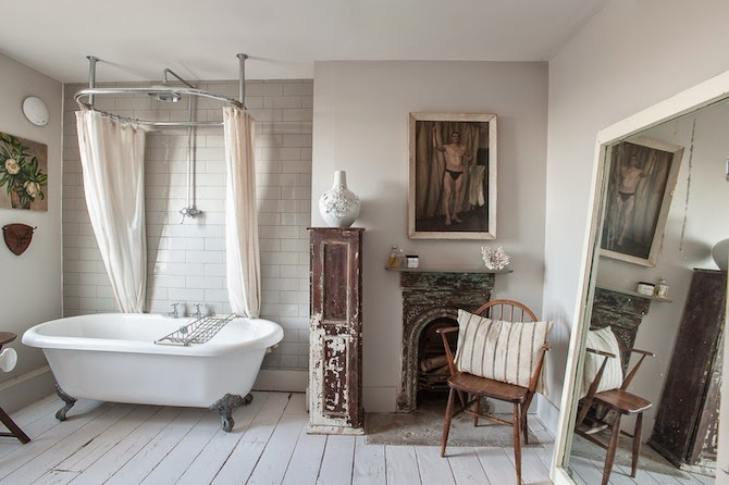 Iluminacion Baño Vintage:30 baños vintage para inspirarte