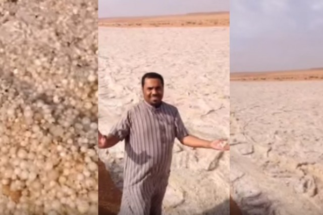 What On Earth Is Going On On This Bizarre Video Of A Middle Eastern 'Sand River'?