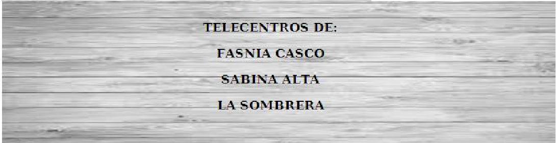 TELECENTROS