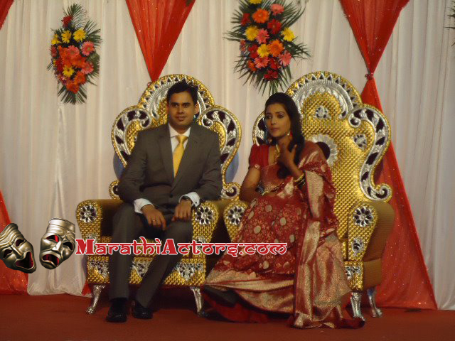 Actress Rupali Bhosle wedding photos