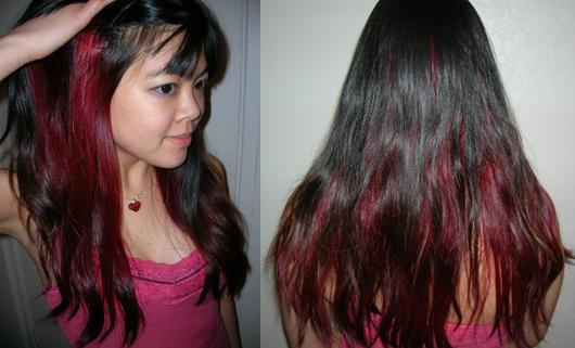 Manic Panic Vampire Red On Brown Hair