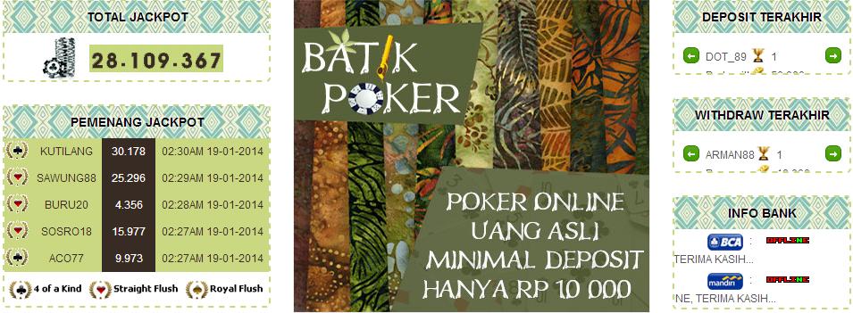 Batikpoker.com Situs Judi Poker Online Uang Asli Indonesia