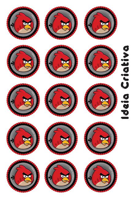 Toppers para Festa de Aniversário Angry Birds Red Bird.